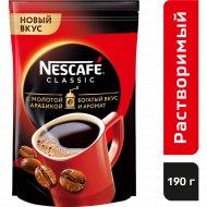 Кофе растворимый «Nescafe classic» с добавлением молотого, 190 г.