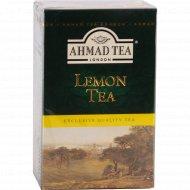 Чай черный «Ahmad Tea» лимон листовой 100 г.