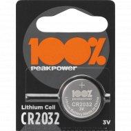 Элемент питания «PeakPower» CR2032-2C5, 1 шт.