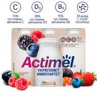 Продукт кисломолочный «Actimel» ягодный микс, 2.5 %, 6х100 г.