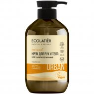 Крем для рук и тела «Ecolatier Urban» марула, орех и пантенол, 400 мл.