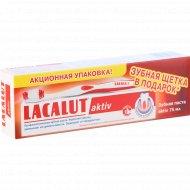 Паста зубная «Lacalut» active + зубная щетка в подарок, 75 мл.