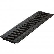 Решетка «Ecoteck» 100 пластиковая Волна черный.