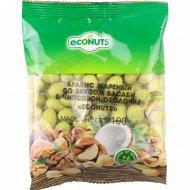 Арахис в чипсовой оболочке «Econuts» со вкусом васаби, 100 г.