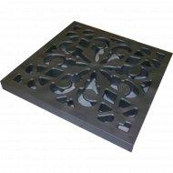Решетка декоративная к дождеприемнику «Ecoteck» пластиковая черный.