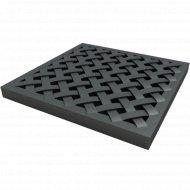 Решетка к дождеприемнику «Ecoteck» пластиковая усиленная, черный.