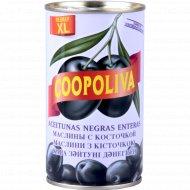 Маслины чёрные «Coopoliva» с косточкой, 350 г.