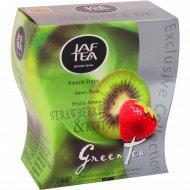 Чай «Jaf Tea» зелёный с ароматом клубники и киви, 100 г.