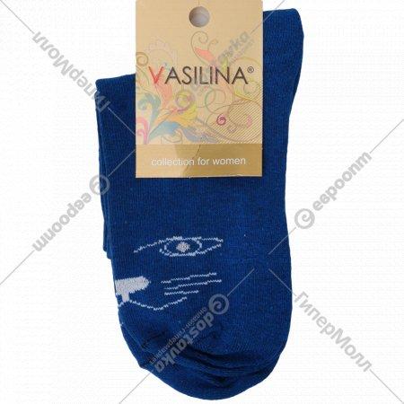 Носки женские «Vasilina» синие, размер 23-25.