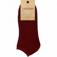 Носки женские «Vasilina» красные, размер 23-25.