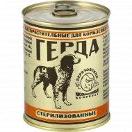 Корм для собак и кошек «Герда» мясорастительный, 350 г.