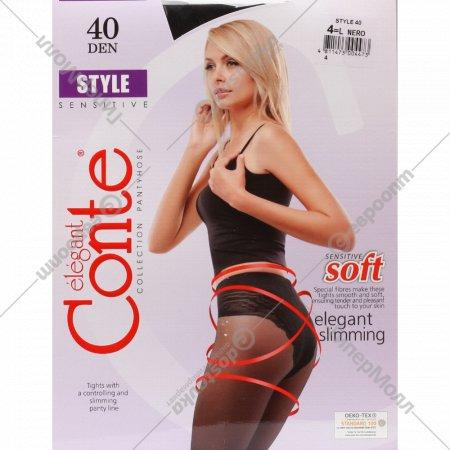 Колготки женские «Conte» Style, Nero, 90 den.