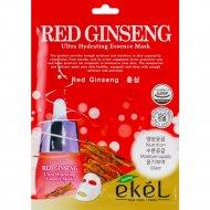 Маска для лица «Ekel» тканевая с экстрактом красного женьшеня, 25 мл.