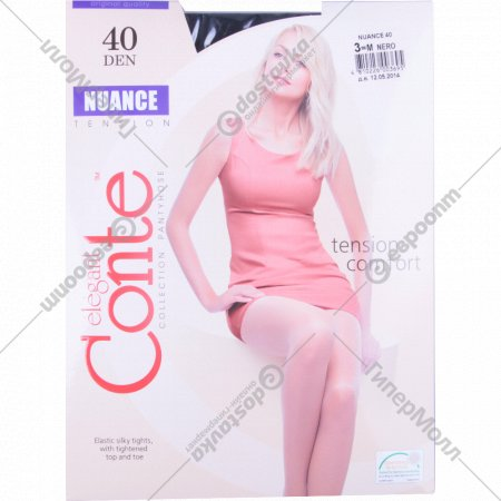 Колготки женские «Conte» Nuance, размер 3, 40 den, Nero