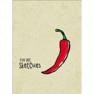 Книга-скетчбук «Красный перец».