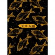 Книга-скетчбук «Оранжевые рыбы».