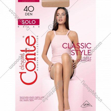 Колготки женские «Conte» Solo Nero 40 den.