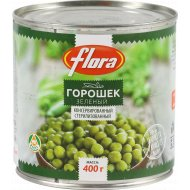 Горошек зеленый «Flora» 400 г.