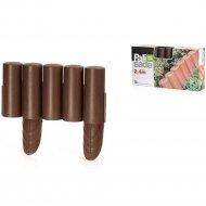 Забор декоративный «Prosperplast» Palisada Plus 24 м, коричневый