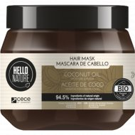 Маска для волос «Hello nature coconut oil mask» с маслом кокоса, 250 мл.