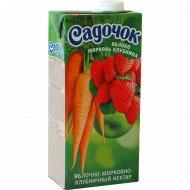 Нектар «Садочок» яблочно-морковно-клубничный 0.95 л.