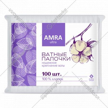 Ватные палочки «Amra» 100 шт.