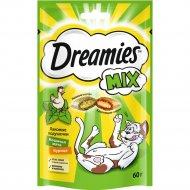Лакомство «Dreamies» для кошек, с курицей и кошачьей мятой, 60 г.