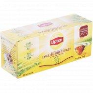 Чай чёрный «Lipton» английский завтрак, 25 пакетиков.