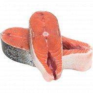 Рыба свежемороженная «Стейк кеты» 1 кг., фасовка 0.8-0.92 кг