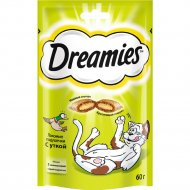 Лакомство «Dreamies» для взрослых кошек с уткой, 60 г.