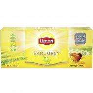 Чай чёрный «Lipton» с ароматом бергамота, 25 пакетиков.