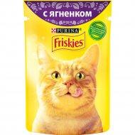 Корм для кошек «Friskies» в подливе с ягненком, 85 г.