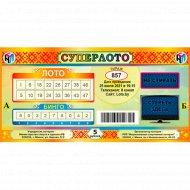 Лотерейные билеты «Суперлото» тираж № 857