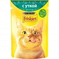 Корм для кошек «Friskies» с уткой в подливе, 85 г.