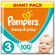 Подгузники «Pampers» Sleep & Play 6-10 кг, размер 3, 100 шт.