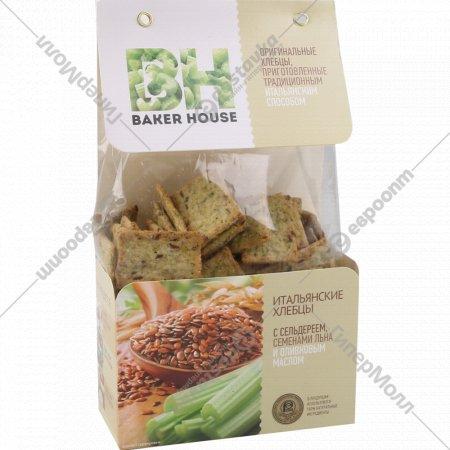 Хлебцы «Baker House» сельдерей, семена льна, оливковое масло, 250 г.