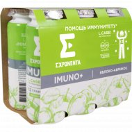 Продукт кисломолочный «Imuno+» яблоко-абрикос, 6 шт х 100 г.