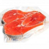Рыба мороженная «Лосось атлантический» стейк, 1 кг., фасовка 0.6-0.8 кг
