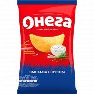 Чипсы из сырого картофеля «Онега» сметана и лук, 75 г.