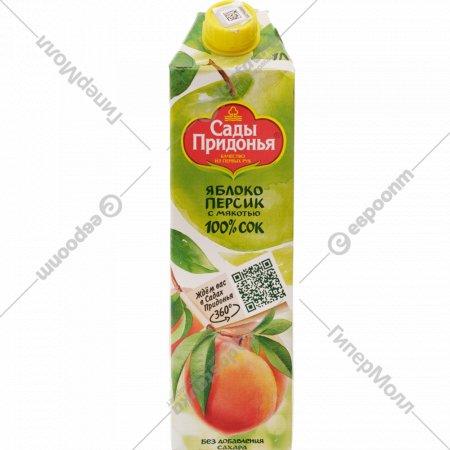 Сок «Сады Придонья» яблочно-персиковый 1 л.