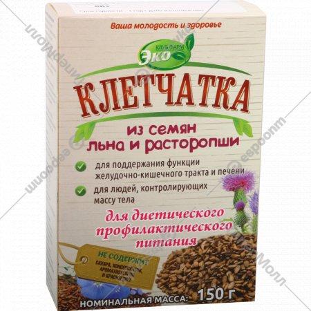 Клетчатка «Эко» из семян льна и расторопши, 150 г.