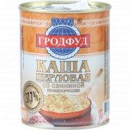 Каша перловая «Гродфуд» со свининой по-белорусски, 340 г.