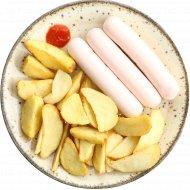 Картофельные дольки с сосиской, 331 г.