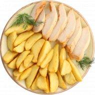 Картофельные дольки с куриным филе, 320 г.