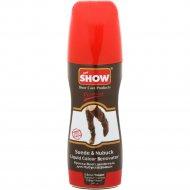 Крем-краска для нубука и замши «Show» темно-коричневый,с губкой, 75мл.