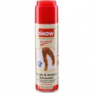 Спрей крем-краска для нубука и замши «Show» бесцветная с щеткой,250мл.