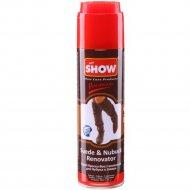 Спрей для нубука и замши «Show» темно-коричневый, со щеткой, 250 мл.