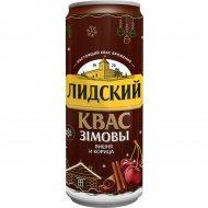 Квас «Лидский Зимний» с вишней и корицей, 0.33 л.