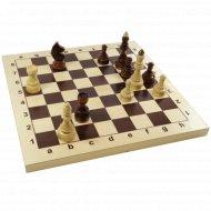 Шахматы деревянные «Гроссмейстерские» в деревянной коробке.