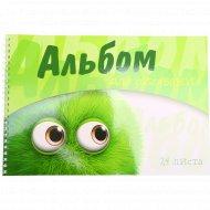 Альбом для рисования «Глазастики» А4, гребень, 20л.